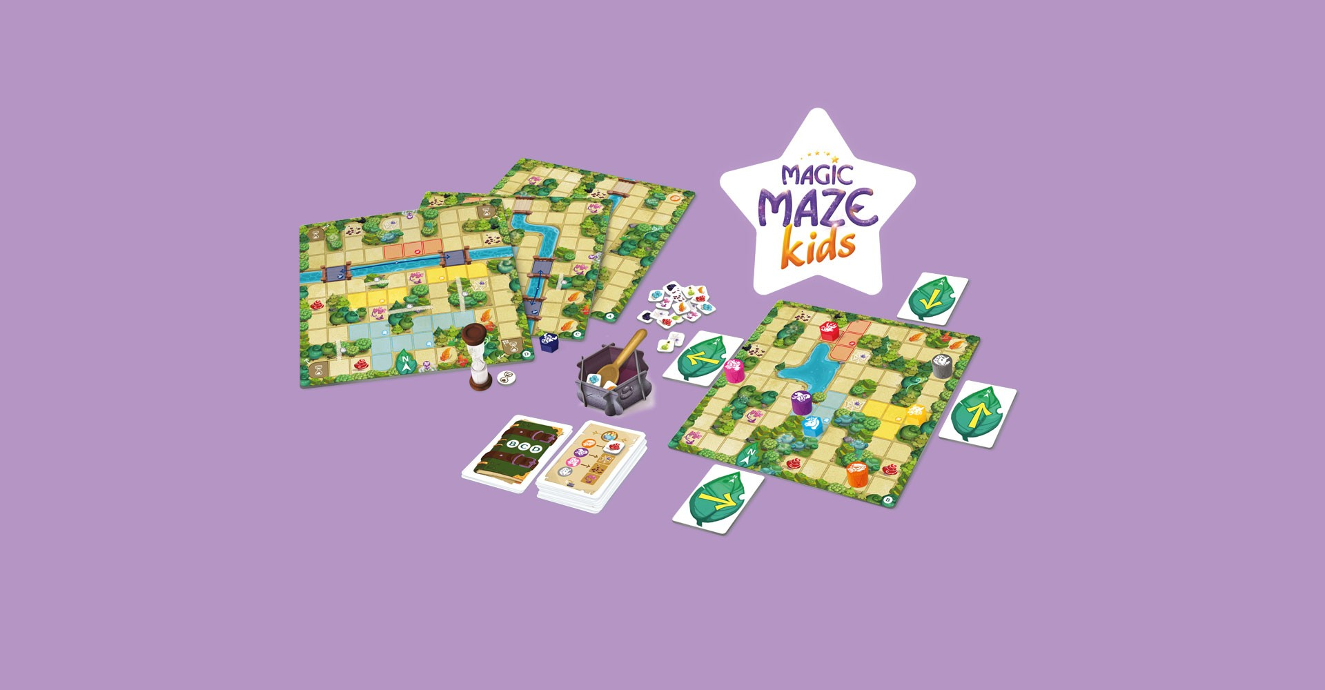 Set up of Magic Maze Kids