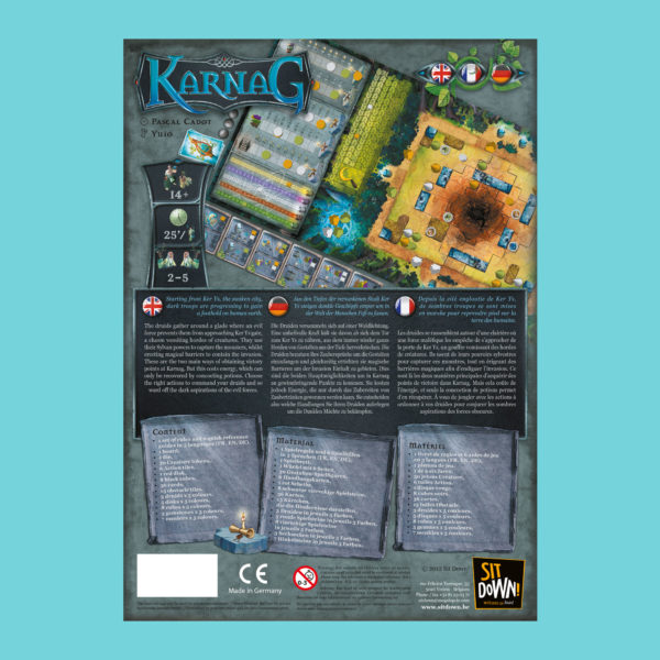 Karnag - Back of the box