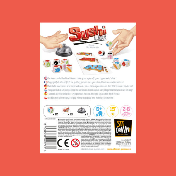 Sushi Dice - Back of the box