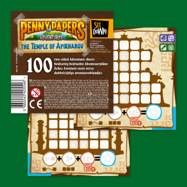 Penny Papers Adventures - Blocks 100 adventure sheets