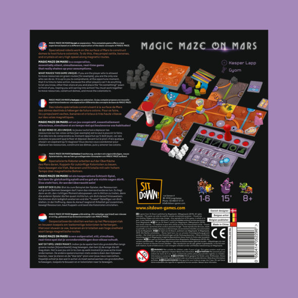 Magic Maze on Mars - Back of the box