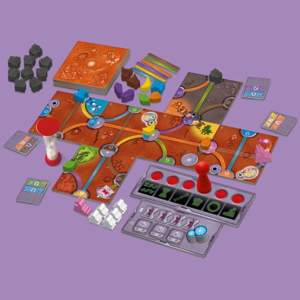 Magic Maze on Mars Game Simulation with cards