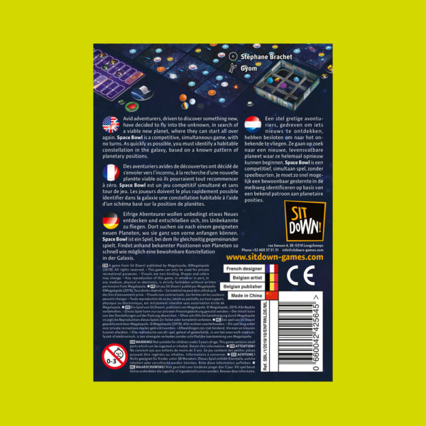 Space Bowl - Back of the box