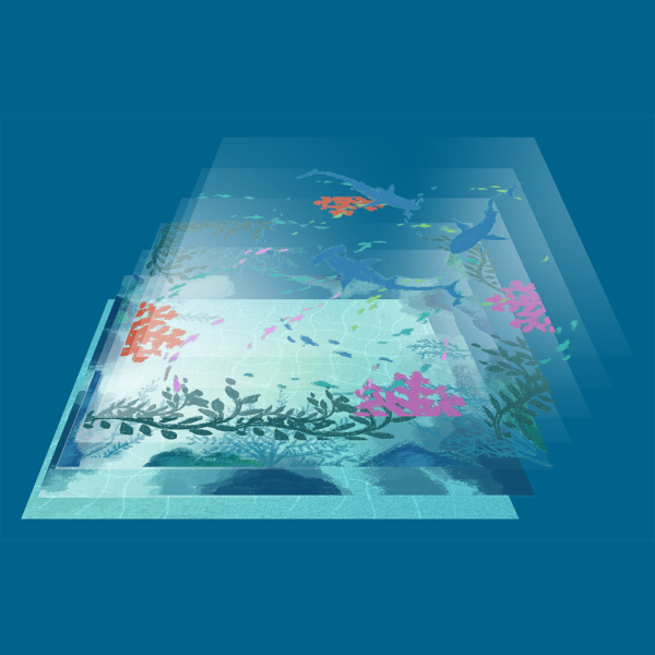 Dive - Transparent tiles